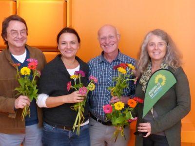 von links: Albrecht Oldenbourg, Bettina Fraas, Günter Thein, Christina Feiler